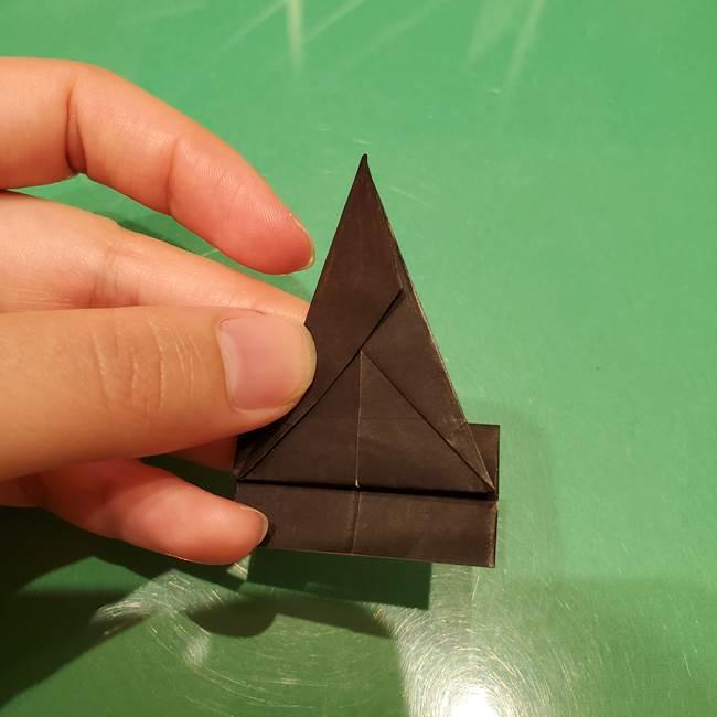 ツムツム かぼちゃミニーの折り紙の折り方作り方②帽子(14)