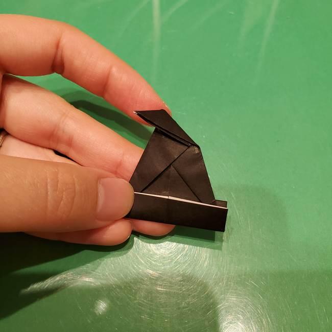 ツムツム かぼちゃミニーの折り紙の折り方作り方②帽子(15)