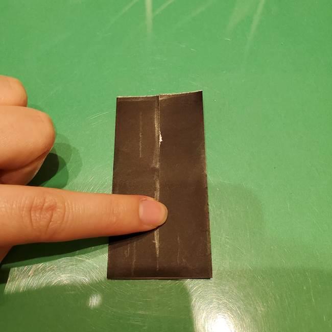 ツムツム かぼちゃミニーの折り紙の折り方作り方②帽子(4)