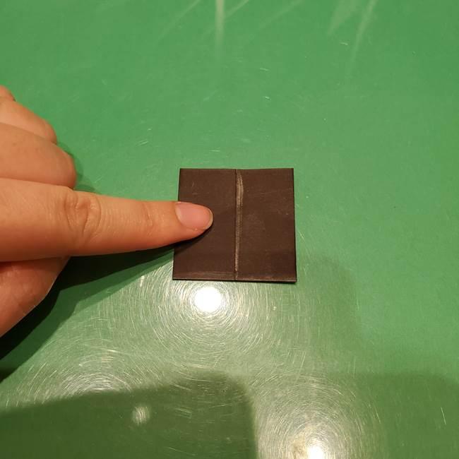ツムツム かぼちゃミニーの折り紙の折り方作り方②帽子(5)