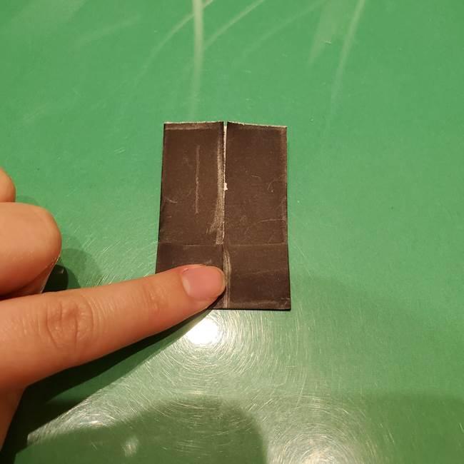 ツムツム かぼちゃミニーの折り紙の折り方作り方②帽子(7)