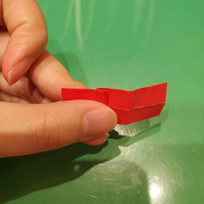 ツムツム かぼちゃミニーの折り紙の折り方作り方③リボン(14)