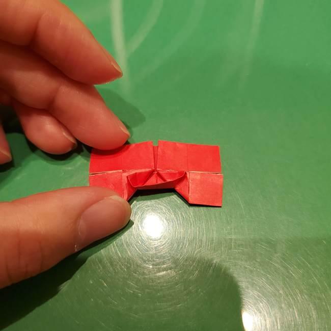 ツムツム かぼちゃミニーの折り紙の折り方作り方③リボン(18)