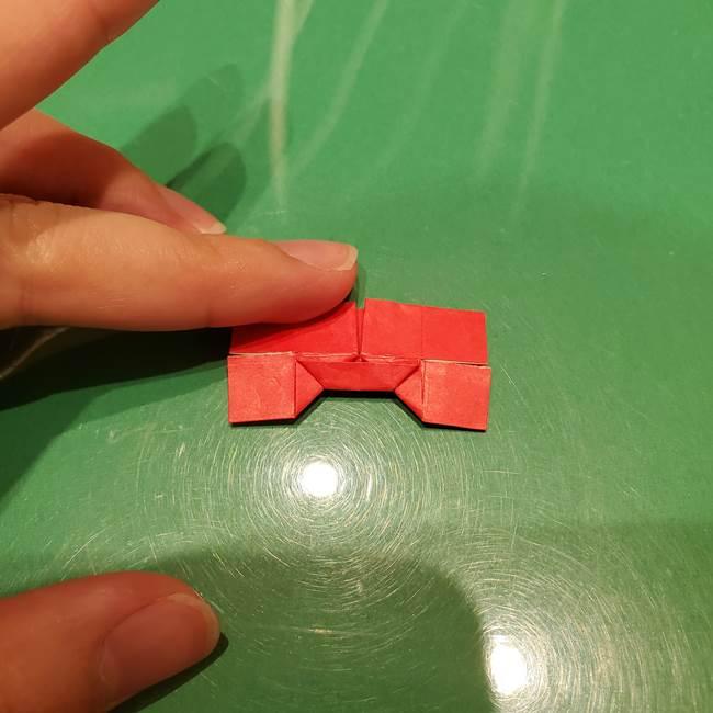 ツムツム かぼちゃミニーの折り紙の折り方作り方③リボン(19)