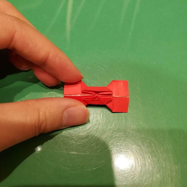 ツムツム かぼちゃミニーの折り紙の折り方作り方③リボン(20)