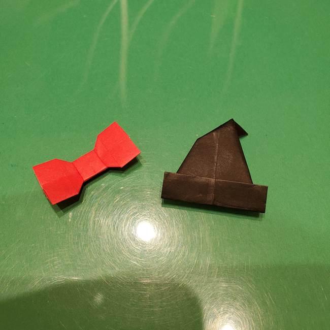 ツムツム かぼちゃミニーの折り紙の折り方作り方③リボン(22)