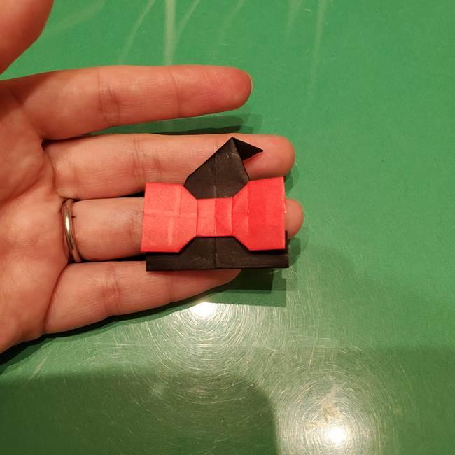 ツムツム かぼちゃミニーの折り紙の折り方作り方③リボン(23)