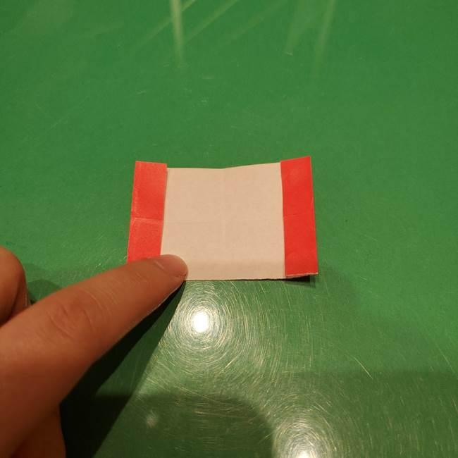 ツムツム かぼちゃミニーの折り紙の折り方作り方③リボン(8)