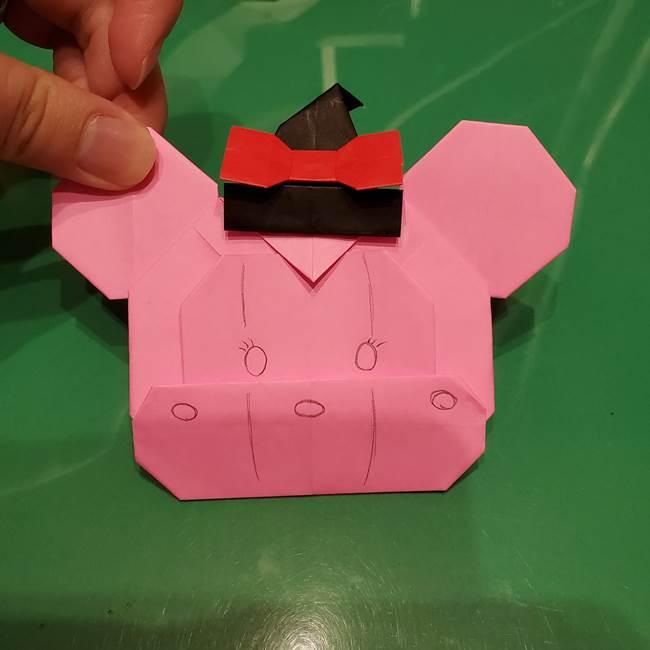 ツムツム かぼちゃミニーの折り紙の折り方作り方④完成(3)