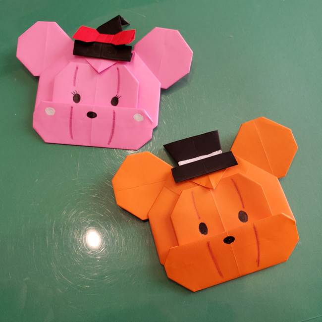 ミッキーがかぼちゃになった折り紙はハロウィンにピッタリでかわいい♪