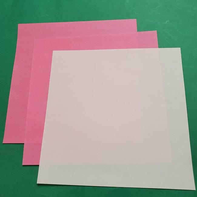ミニーちゃんのリボンの折り紙*用意するもの (1)