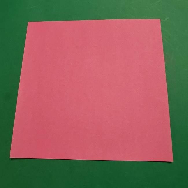 ミニーちゃんのリボンの折り紙 折り方作り方 (1)
