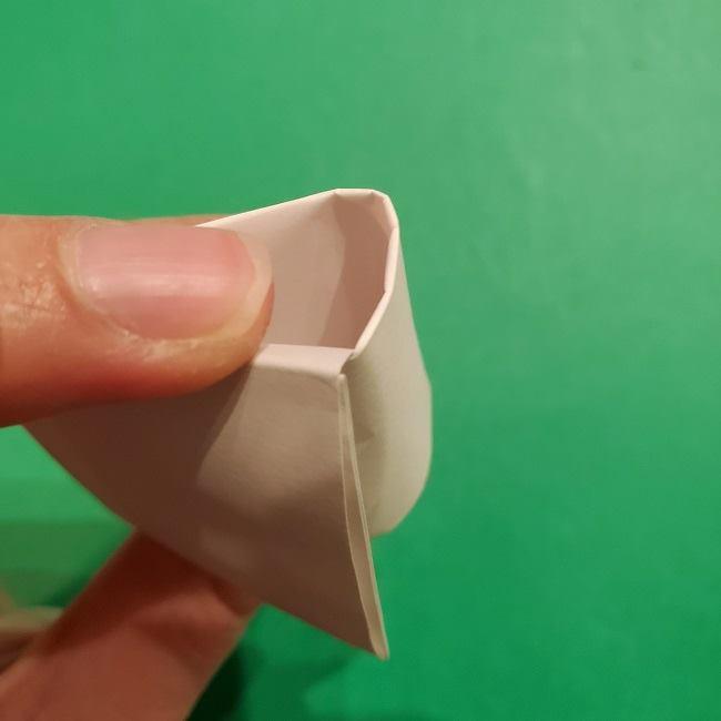 ミニーちゃんのリボンの折り紙 折り方作り方 (22)