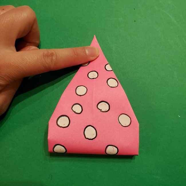 ミニーちゃんのリボンの折り紙 折り方作り方 (24)
