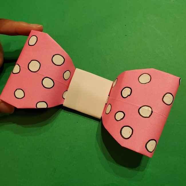 ミニーちゃんのリボンの折り紙 折り方作り方 (27)