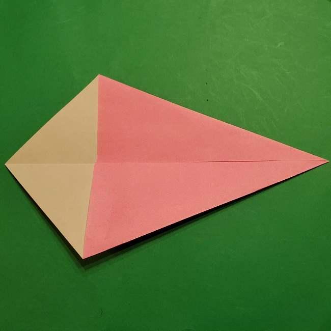 ミニーちゃんのリボンの折り紙 折り方作り方 (4)