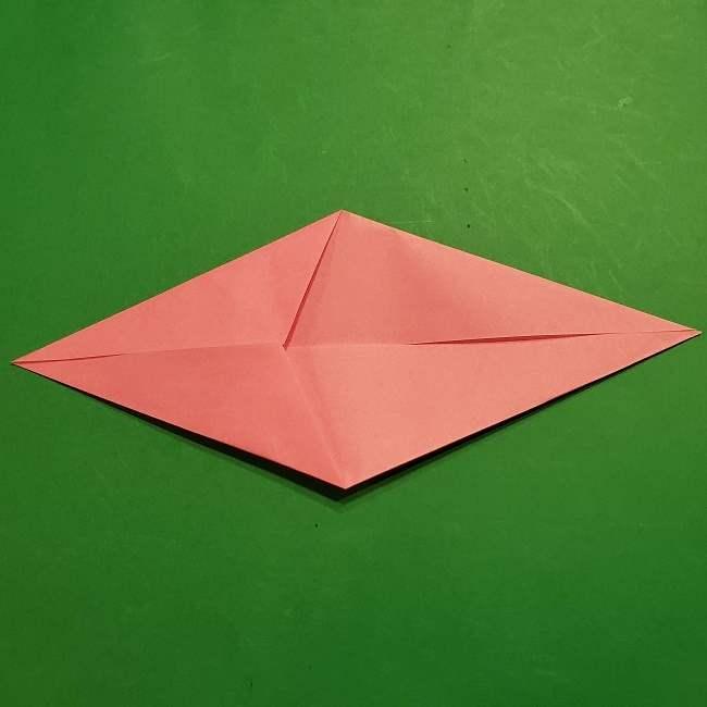 ミニーちゃんのリボンの折り紙 折り方作り方 (5)