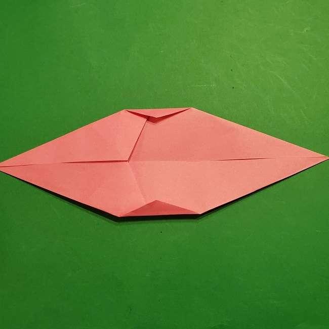 ミニーちゃんのリボンの折り紙 折り方作り方 (6)