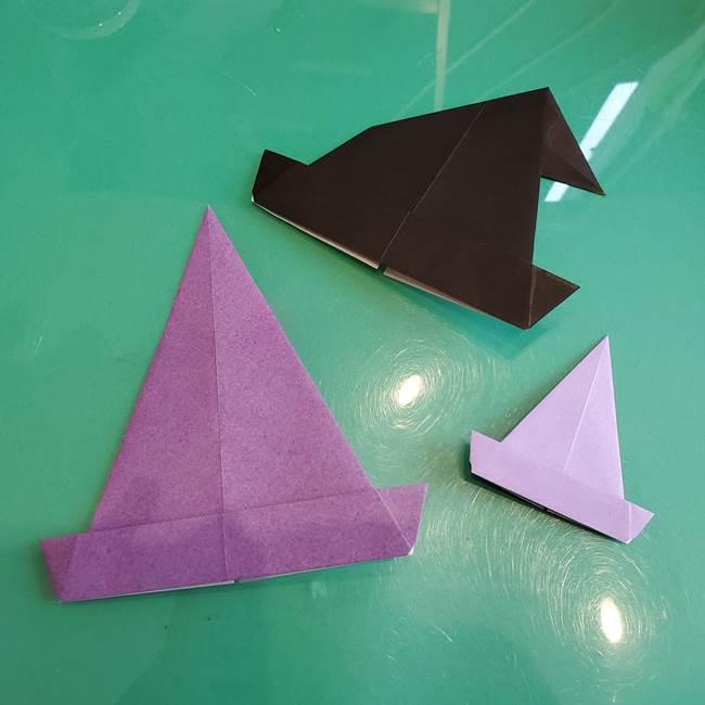 三角帽子の折り方作り方☆折り紙で簡単!魔女や魔法使い風ハロウィン飾り★