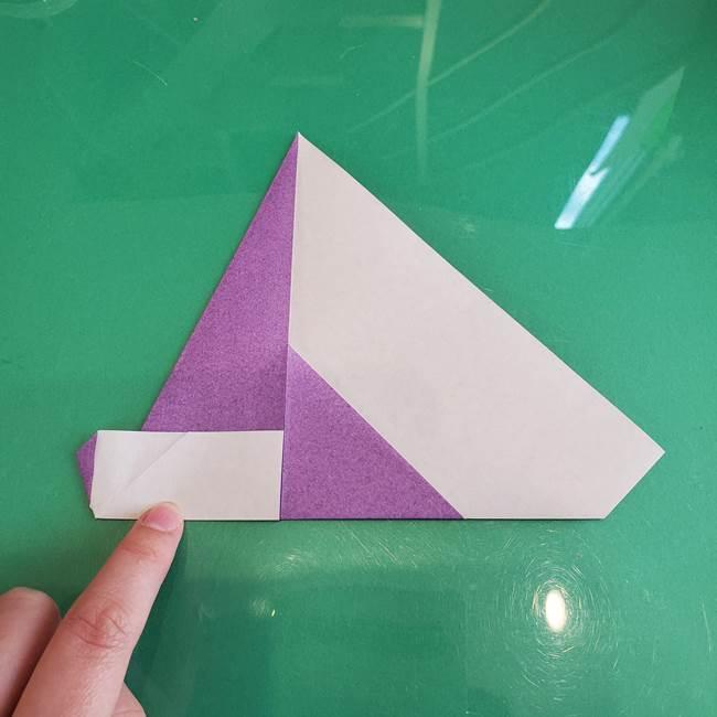 三角帽子の折り方作り方(10)