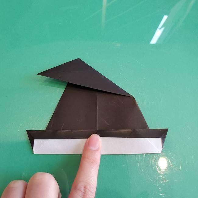 三角帽子の折り方作り方(14)