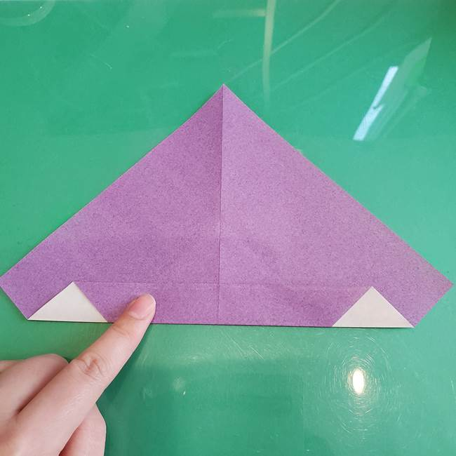 三角帽子の折り方作り方(6)