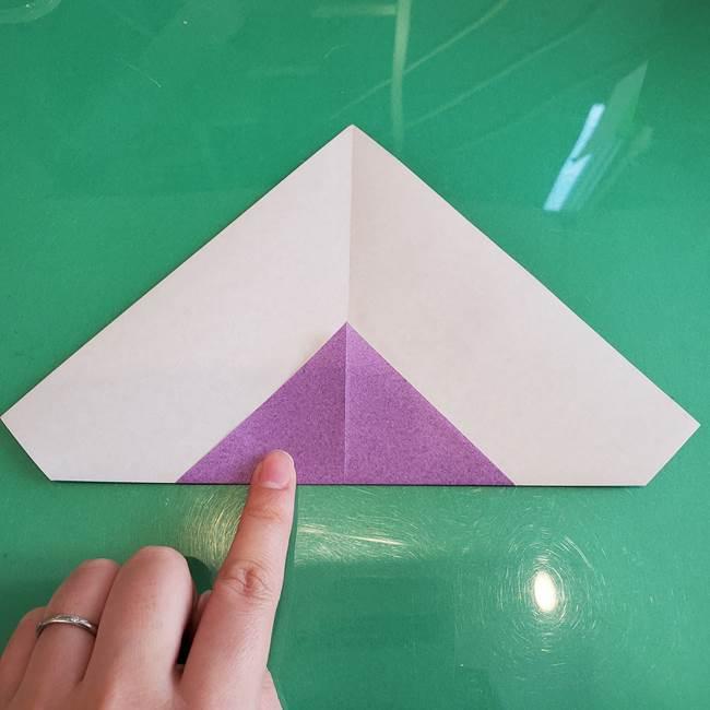 三角帽子の折り方作り方(7)