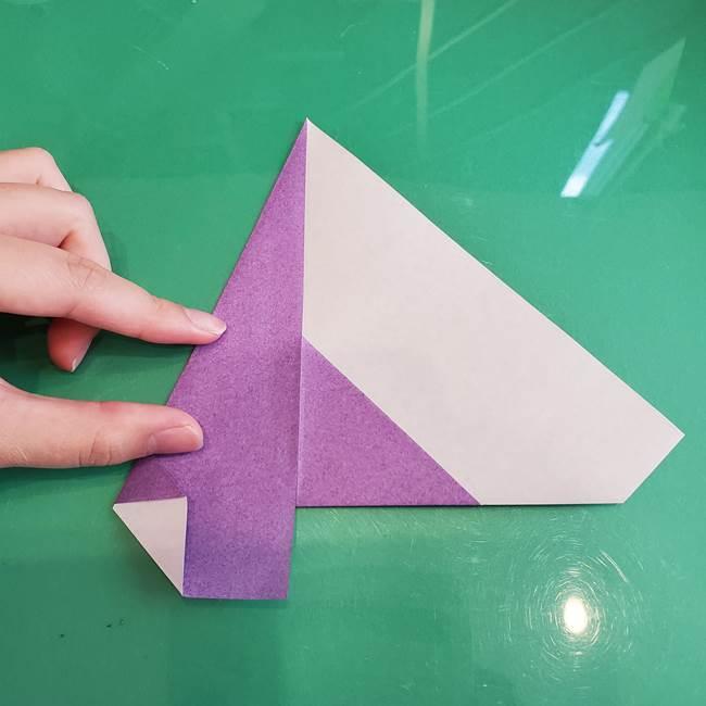 三角帽子の折り方作り方(8)