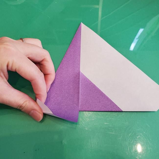 三角帽子の折り方作り方(9)