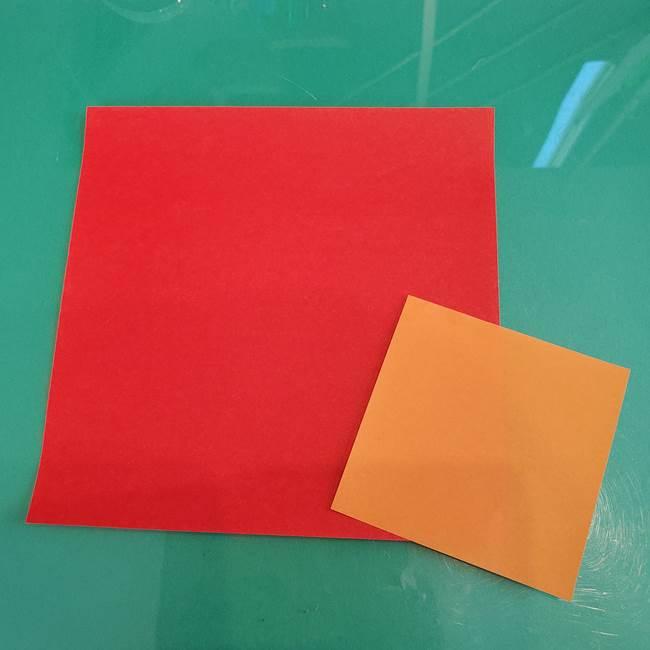 折り紙でろうそくを立体的ににつくる折り方は簡単?用意するもの(1)