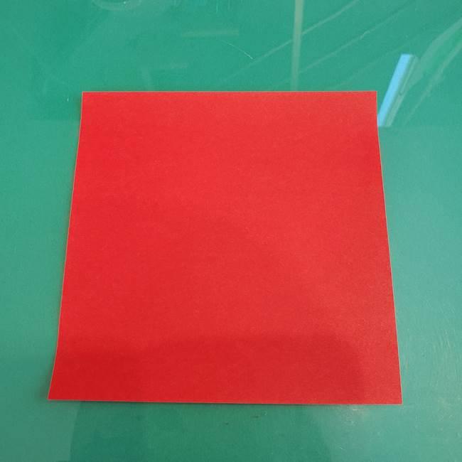 折り紙のろうそく 立体的な折り方作り方【画像】①土台1(1)