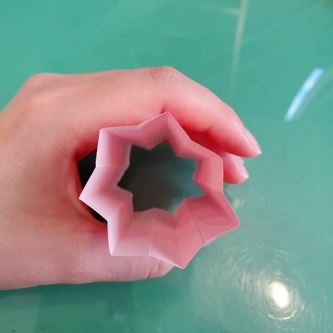 折り紙のろうそく 立体的な折り方作り方【画像】①土台1(16)