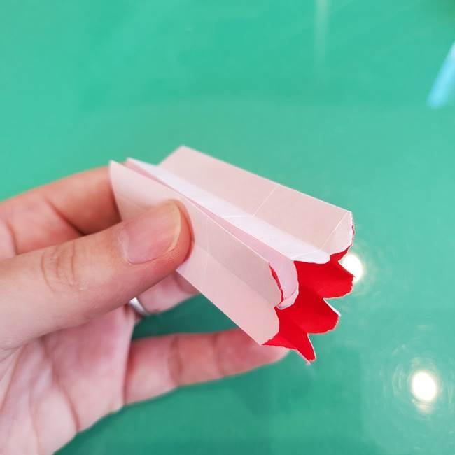 折り紙のろうそく 立体的な折り方作り方【画像】②土台2(16)