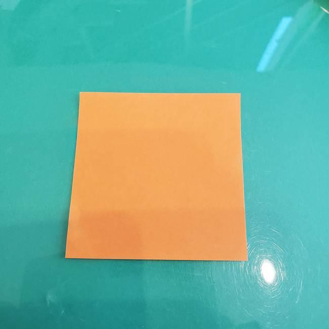 折り紙のろうそく 立体的な折り方作り方【画像】③炎(1)