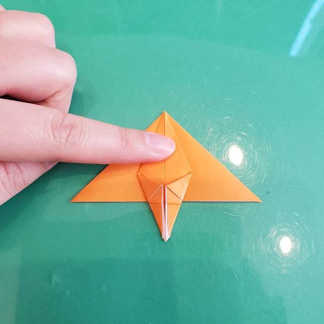 折り紙のろうそく 立体的な折り方作り方【画像】③炎(17)