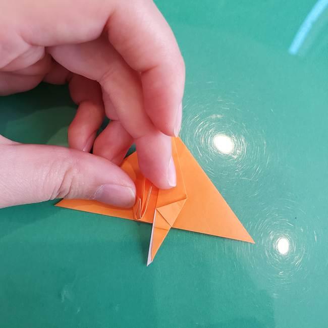 折り紙のろうそく 立体的な折り方作り方【画像】③炎(18)