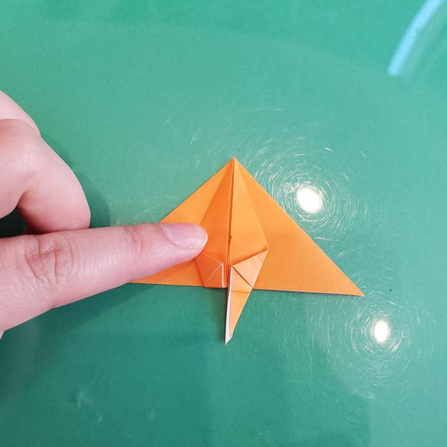 折り紙のろうそく 立体的な折り方作り方【画像】③炎(19)