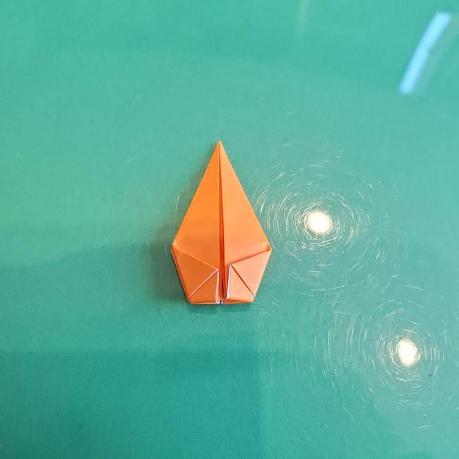 折り紙のろうそく 立体的な折り方作り方【画像】③炎(22)