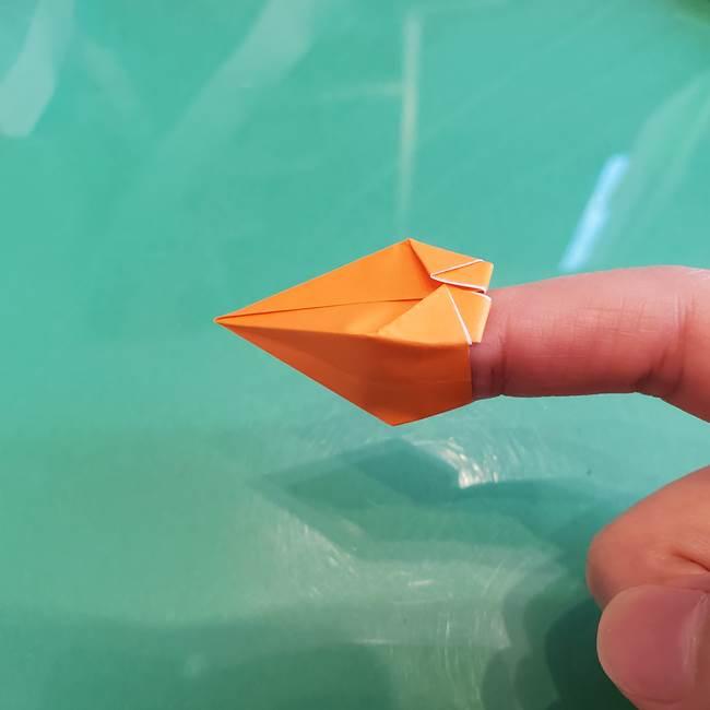 折り紙のろうそく 立体的な折り方作り方【画像】③炎(25)