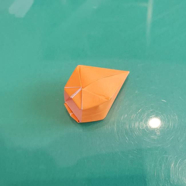 折り紙のろうそく 立体的な折り方作り方【画像】③炎(26)
