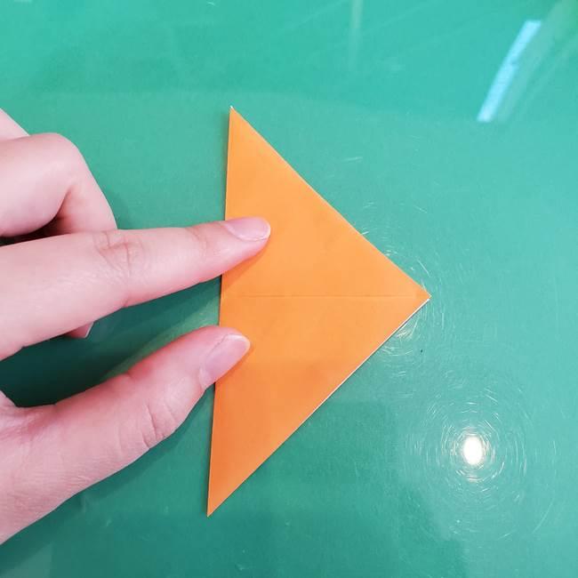 折り紙のろうそく 立体的な折り方作り方【画像】③炎(4)
