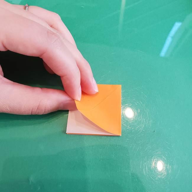 折り紙のろうそく 立体的な折り方作り方【画像】③炎(8)