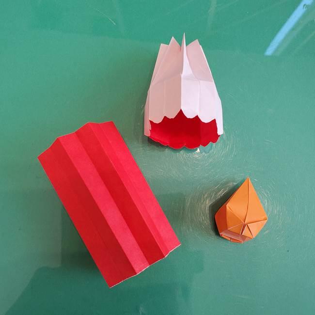 折り紙のろうそく 立体的な折り方作り方【画像】④完成(1)