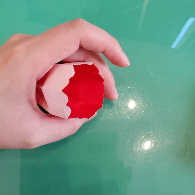 折り紙のろうそく 立体的な折り方作り方【画像】④完成(2)