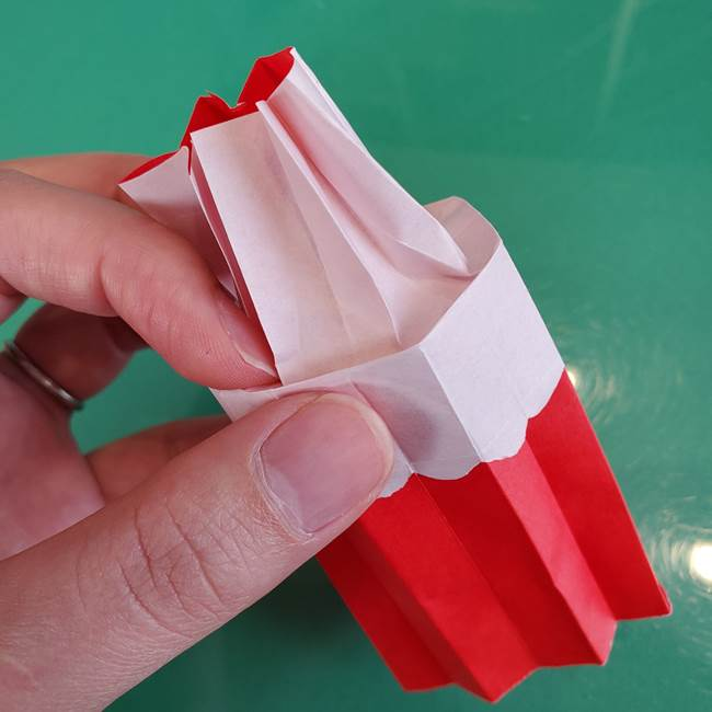 折り紙のろうそく 立体的な折り方作り方【画像】④完成(6)