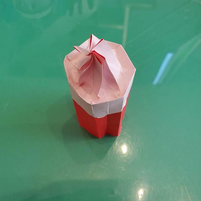 折り紙のろうそく 立体的な折り方作り方【画像】④完成(7)