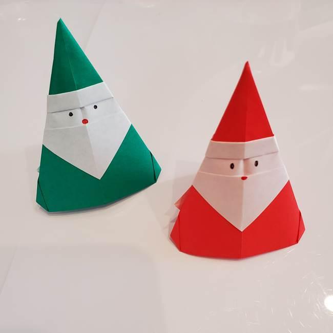 折り紙のサンタクロース 自立してかわいい!指人形にもなる折り方作り方を紹介★