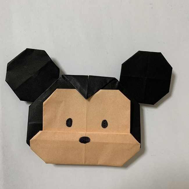 折り紙ディズニーのミッキーの折り方・作り方【ツムツム】