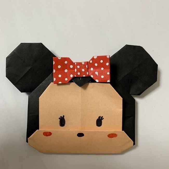 折り紙ディズニーのミニーの折り方・作り方【ツムツム】