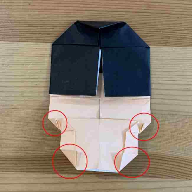 折り紙 ディズニーのミッキー&ミニーの折り方・作り方 (23)